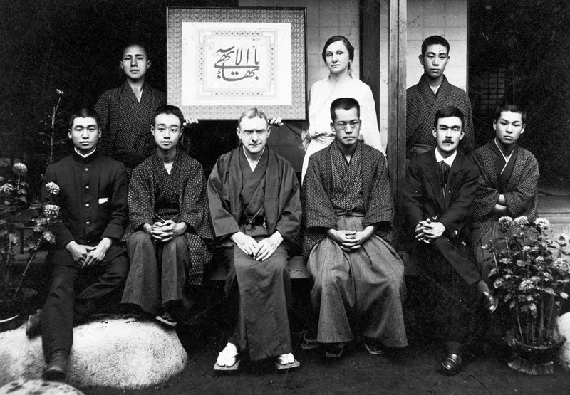 Hand of the Cause Agnes Alexander with a group of Bahais in Tokyo
