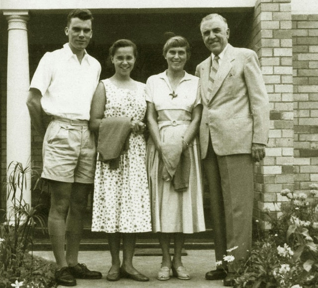 John Robarts with family