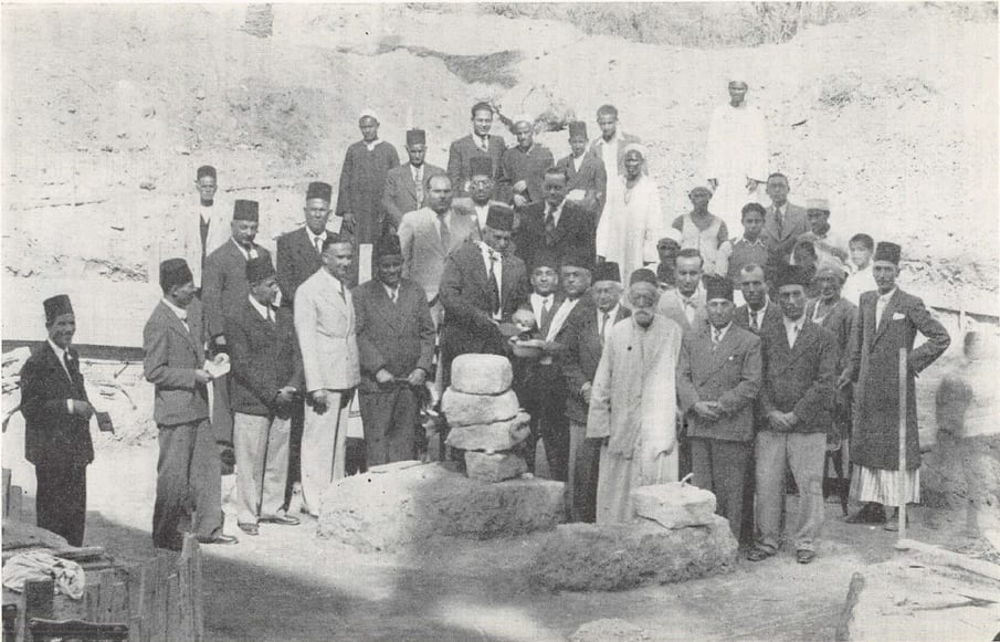 Laying Foundation Stone of Haziratul-Quds at Cairo Egypt, October, 1941